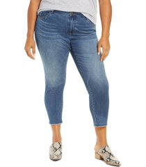 plus size women's wit & wisdom seamless high waist raw ankle skimmer jeans, size - (plus size) (nordstrom exclusive)