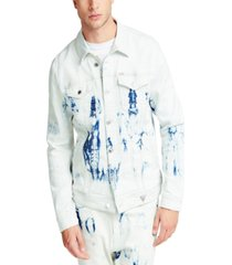 guess men's tie dye denim jacket
