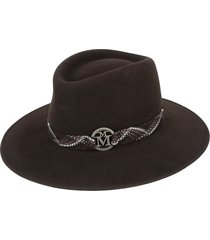 maison michel woven bond panama hat - brown