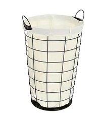 cesto de roupas com pano 55 litros preto