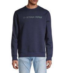 g-star raw men's logo sweatshirt - blue - size m