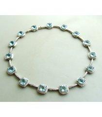 atelier christian 18 karaat topaas en diamanten collier