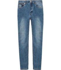toelopende pijpen jeans