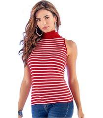 camiseta adulto femenino estampado rayas rojas marketing  personal