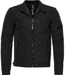 jacket kviltad jacka svart replay