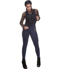 calça legging miss blessed montaria com zipper
