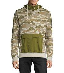 camo-print cotton hoodie