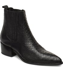sage shoes boots ankle boots ankle boots with heel svart pavement