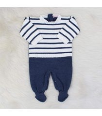 macacão tricô théo azul jeans