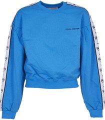 chiara ferragni turquoise logomania sweatshirt