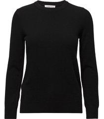 basic sweater stickad tröja svart davida cashmere