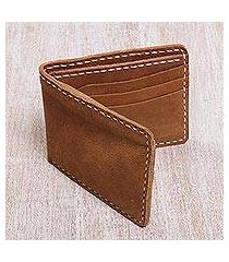 men's leather wallet, 'natural balance' (indonesia)