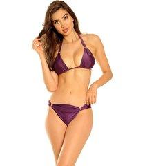 biquini mos beachwear labadee liso violaceo - roxo - feminino - dafiti