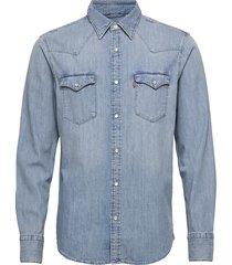 barstow western standard red c skjorta casual blå levi´s men