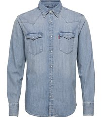 barstow western standard red skjorta casual blå levi´s men