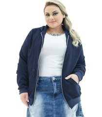 cb7a4111181985 jaqueta confidencial extra plus size jeans com capuzfeminina