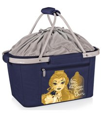 oniva by picnic time disney's beauty and the beast metro basket collapsible cooler tote