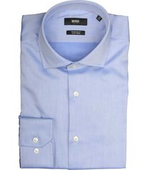 hugo boss overhemd gordon lichtblauw 50415619/432