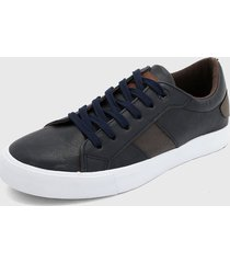 tenis azul navy-gris-blanco hang ten