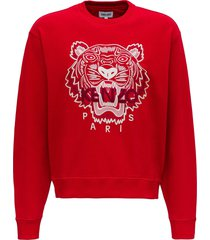 kenzo sweatshirt with toger logo embroidery