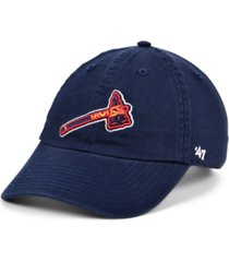 '47 brand atlanta braves on-field replica clean up cap