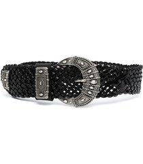 etro woven belt - black
