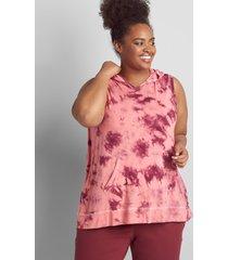 lane bryant women's livi sleeveless overlap-back hoodie 26/28 zinfandel