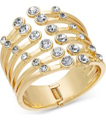 thalia sodi gold-tone crystal claw cuff bracelet, created for macy's
