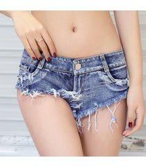 sexy micro short jeans para mujer summer club shaping mini short jeans