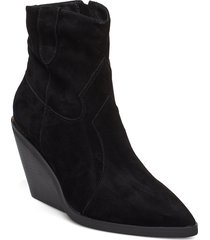 boot shoes boots ankle boots ankle boot - heel svart sofie schnoor