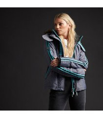 chaqueta con capucha padded para mujer superdry