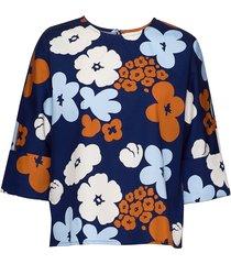 kalkki kevättalkoot shirt blouse lange mouwen blauw marimekko