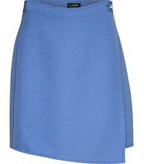alexa, 865 solid cady kort kjol blå stine goya