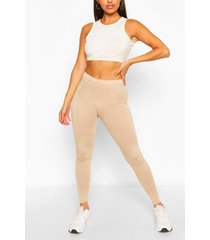 basic leggings met hoge taille, steenrood