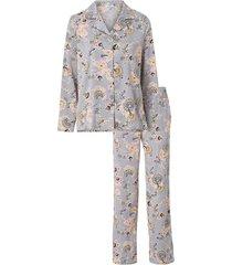 blommig pyjamas i lätt satin