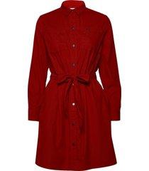 shirt dress kort klänning röd lee jeans