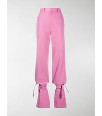 the attico high-waisted tie-ankle trousers