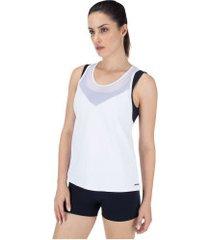 camiseta regata memo nadador torcido - feminina - branco