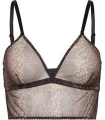 melina bralette lingerie bras & tops bra without wire grå underprotection