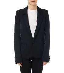 saint laurent black wool embroidery jacket