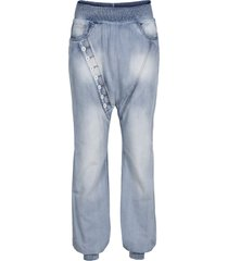 jeans baggy in tencel™ lyocell con lavaggio forte (blu) - rainbow