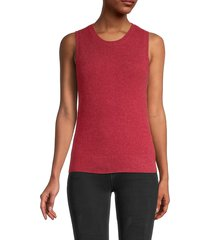 saks fifth avenue women's cashmere shell top - scarlet - size m
