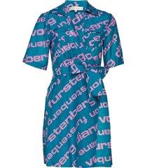 clarem mini dress korte jurk blauw diane von furstenberg