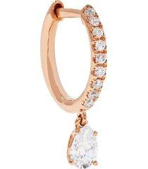 18kt rose gold huggie diamond earring