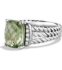 david yurman wheaton petite ring with semiprecious stone & diamonds, size 5 in prasiolite at nordstrom