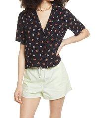 women's bp. camp shirt, size small - black