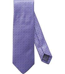 men's eton geometric silk tie, size regular - purple