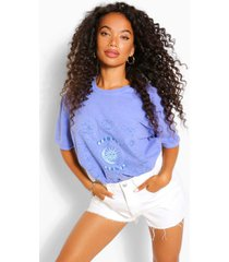 petite tie dye constellations printed t-shirt, blue
