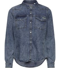 western denim shirt långärmad skjorta blå superdry