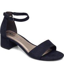woms sandals sandal med klack blå tamaris